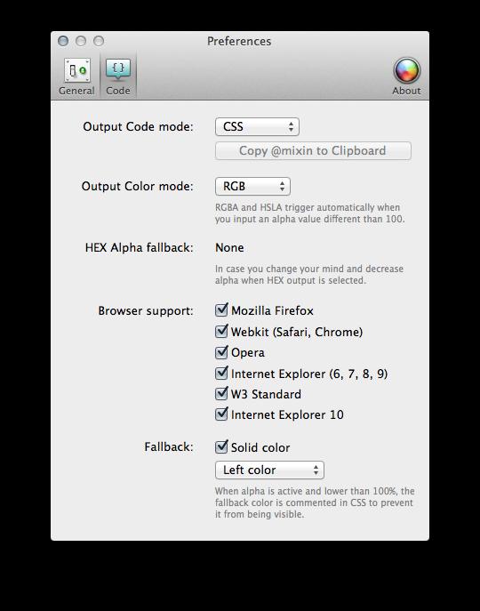 gradient app options